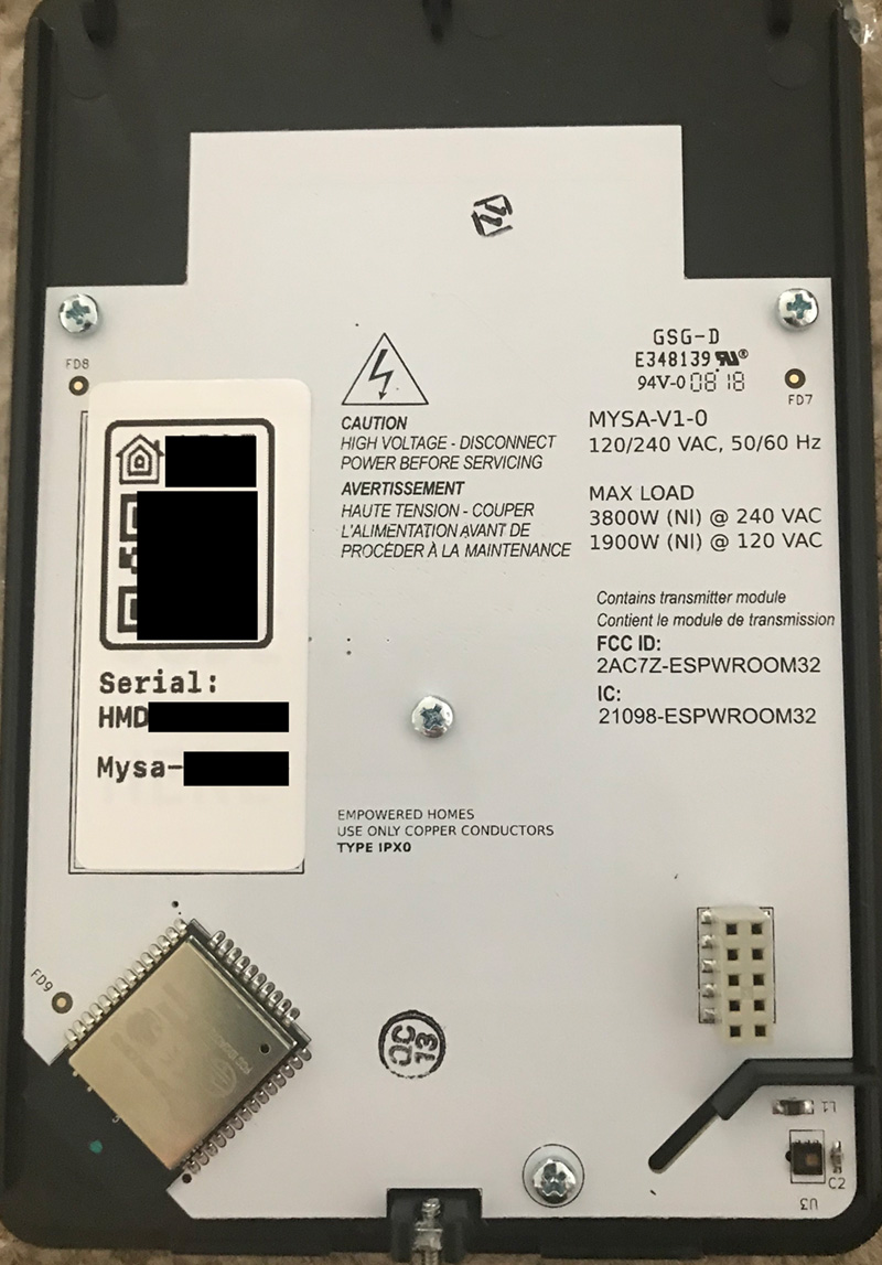 Mysa Smart Thermostat Review Homekit News And Reviews Wiring Diagram For Tado Rear Side Of Faceplate