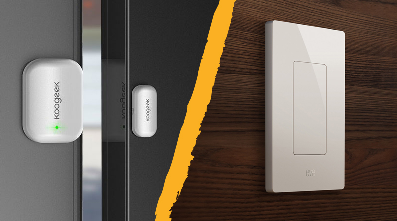 HomeKit Automation With Eve Light Switch and Koogeek Door Sensor