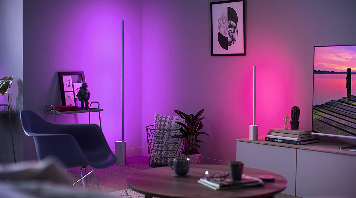 Philips Hue White And Colour Ambiance Signe Floor Lamp