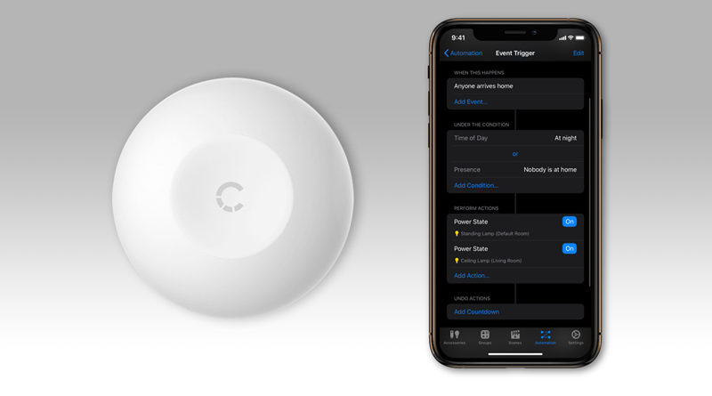 Using a Smart Button as a Smart Light Switch With Home+